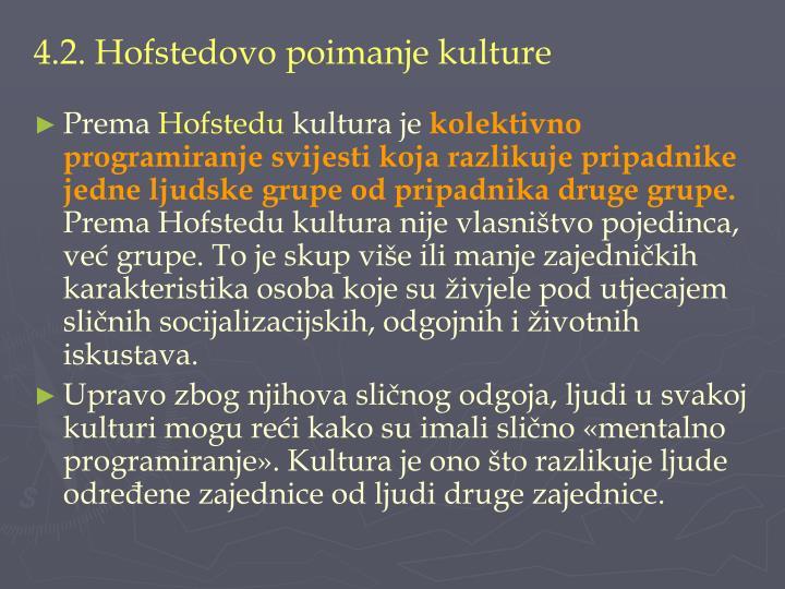 4.2. Hofstedovo poimanje kulture