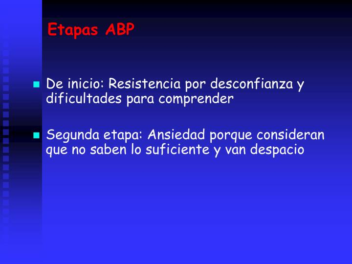 Etapas ABP