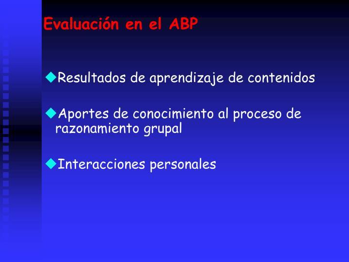Evaluacin en el ABP