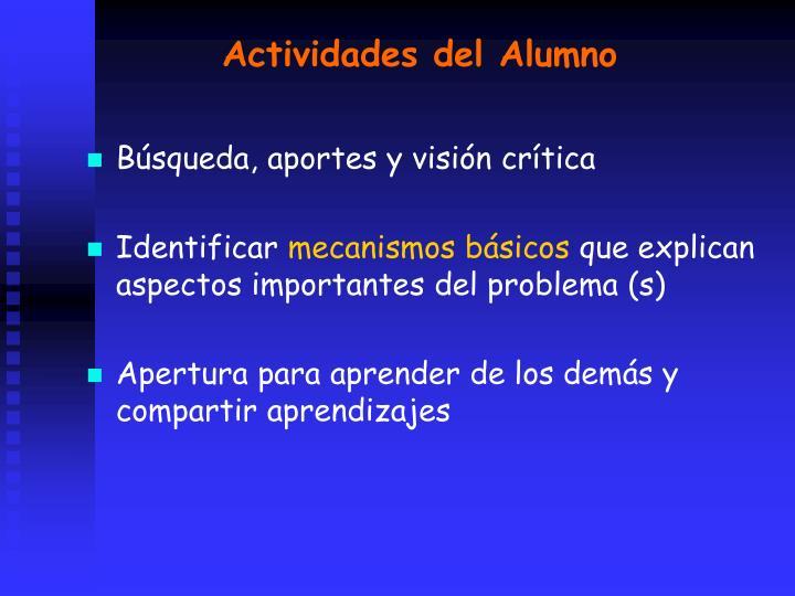 Actividades del Alumno