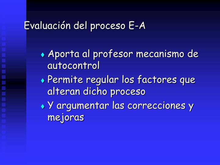 Evaluacin del proceso E-A