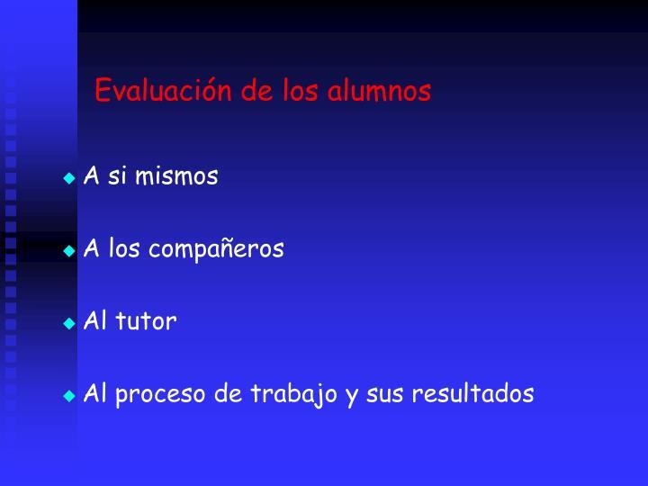 Evaluacin de los alumnos