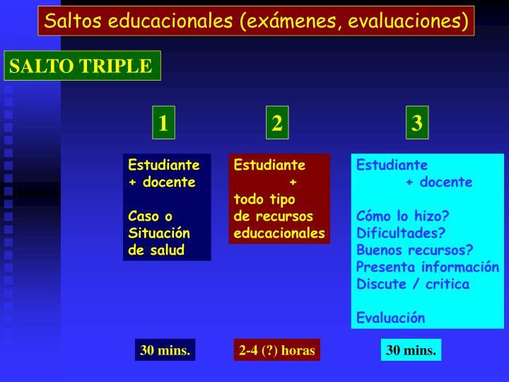 Saltos educacionales (exmenes, evaluaciones)