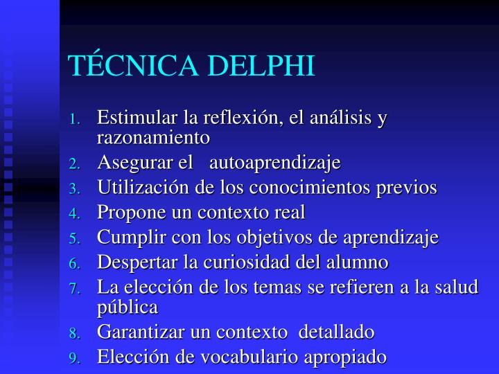 TCNICA DELPHI