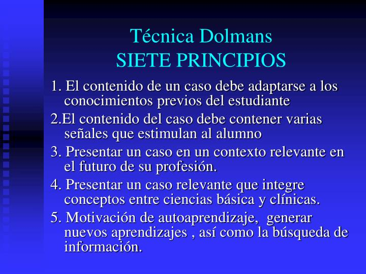 Tcnica Dolmans