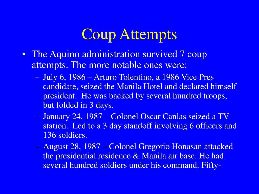 Coup Attempts