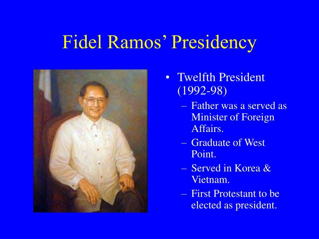 Fidel Ramos' Presidency