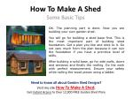 how to make a shed5