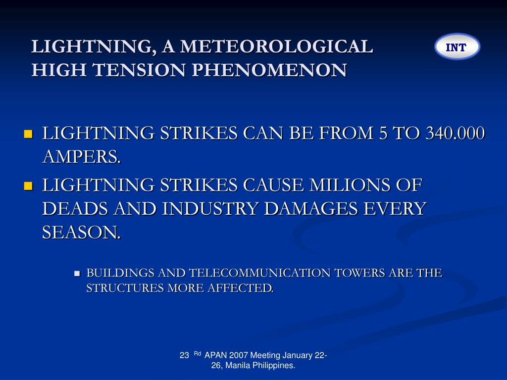 LIGHTNING, A METEOROLOGICAL