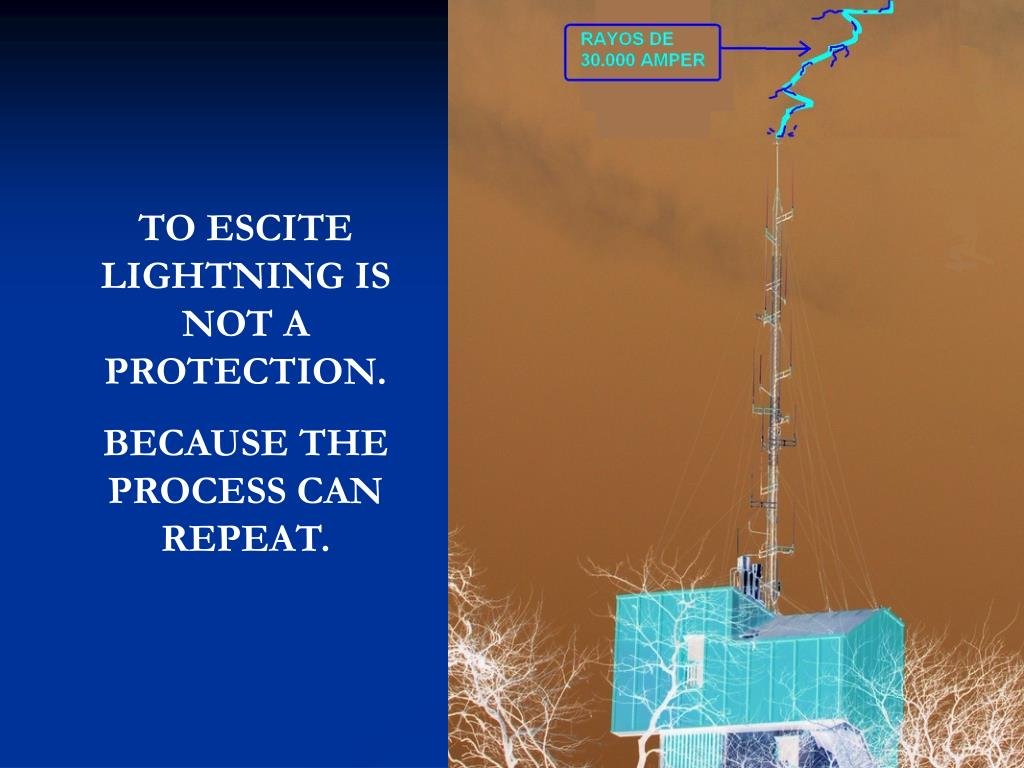 TO ESCITE LIGHTNING IS NOT A PROTECTION.