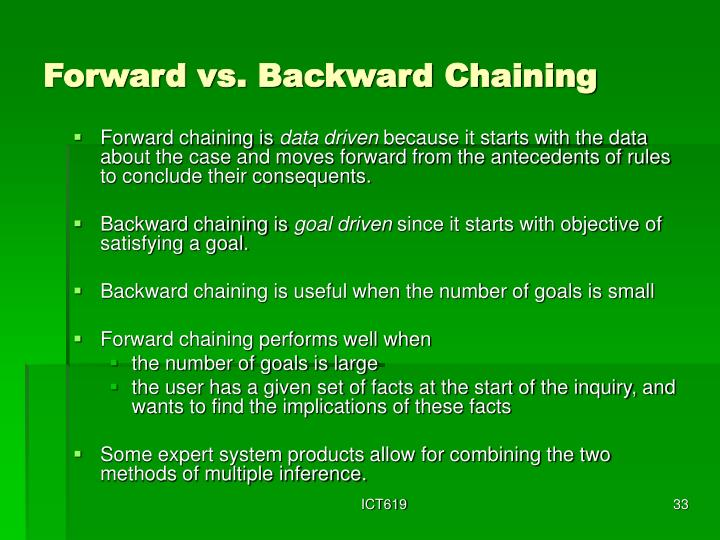 Forward vs. Backward Chaining