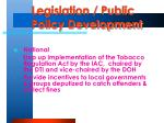 legislation public policy development