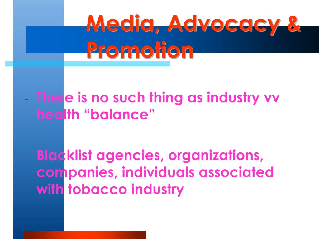 Media, Advocacy & Promotion