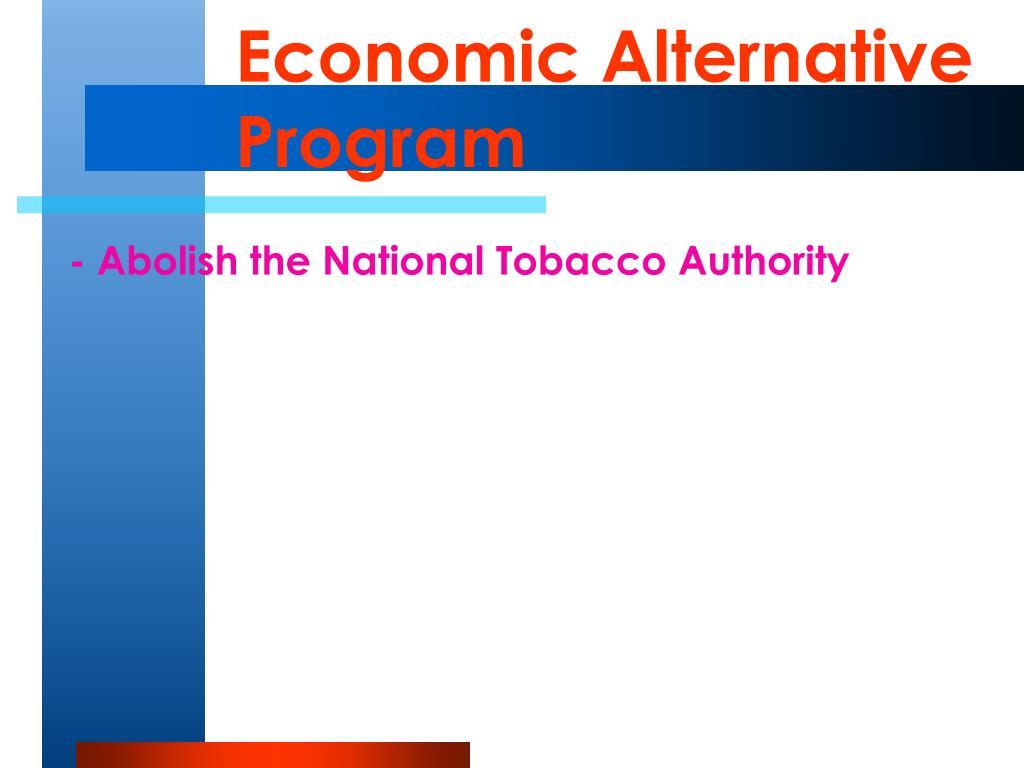 Economic Alternative Program