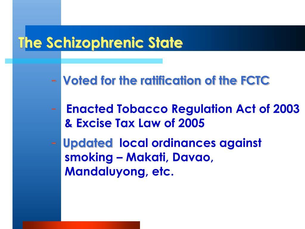 The Schizophrenic State
