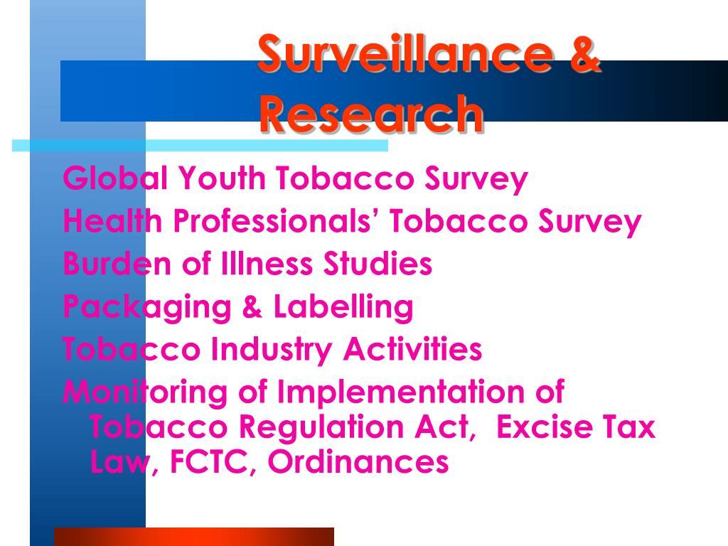 Surveillance & Research