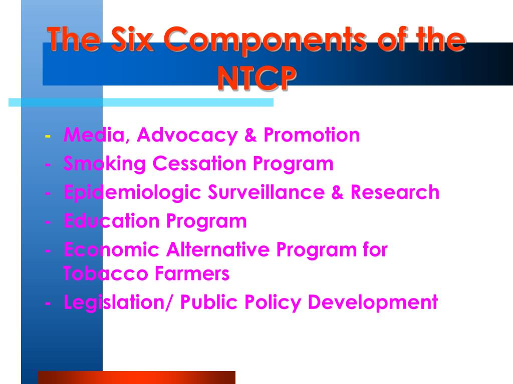 The Six Components of the NTCP