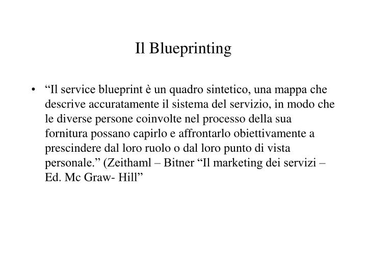 Il Blueprinting