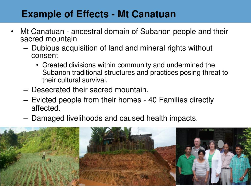 Example of Effects - Mt Canatuan