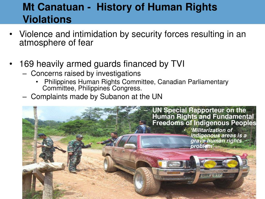 Mt Canatuan -  History of Human Rights Violations