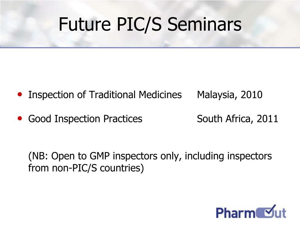 Future PIC/S Seminars