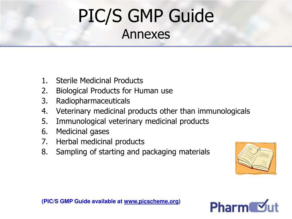 PIC/S GMP Guide