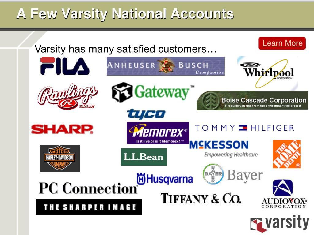 A Few Varsity National Accounts