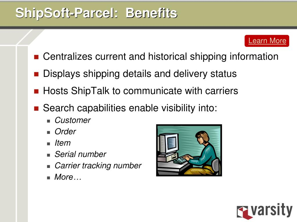 ShipSoft-Parcel:  Benefits