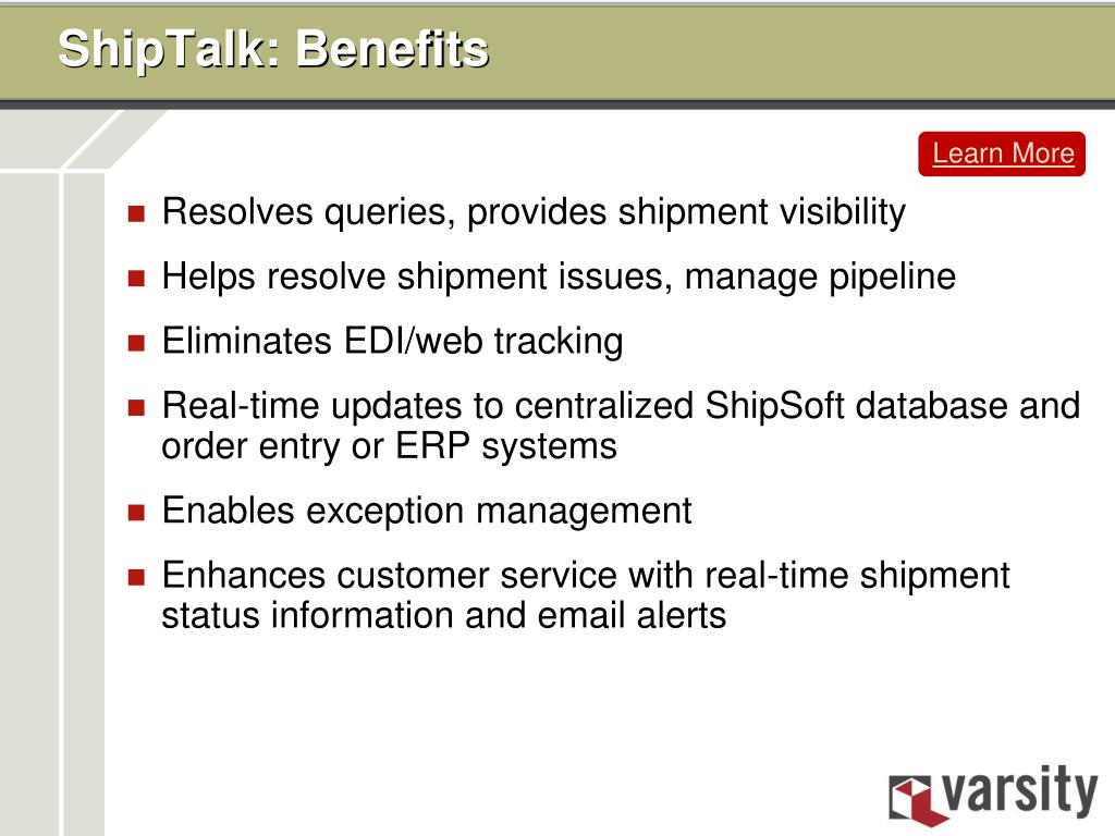 ShipTalk: Benefits