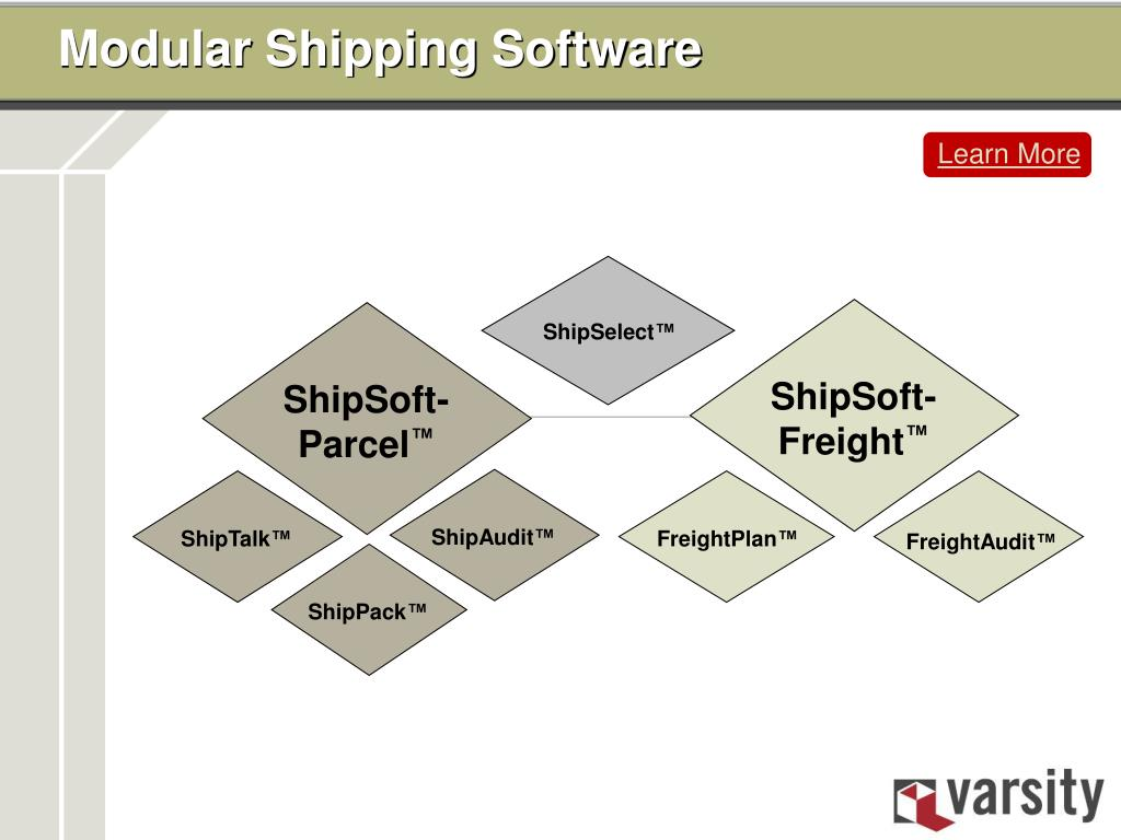 Modular Shipping Software