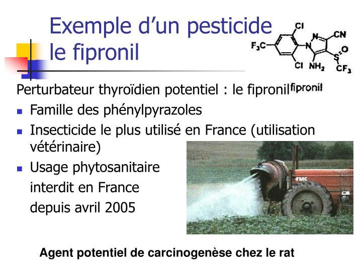 Exemple d'un pesticide
