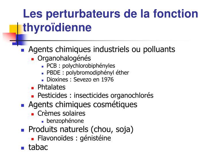 Les perturbateurs de la fonction thyroïdienne