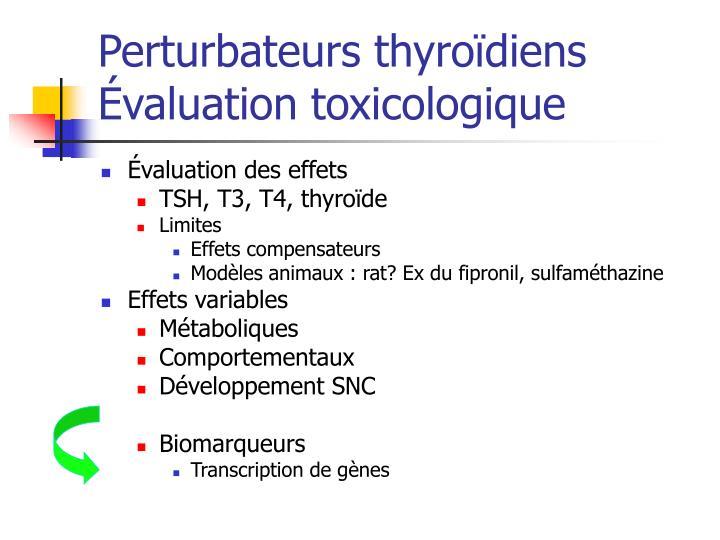 Perturbateurs thyroïdiens