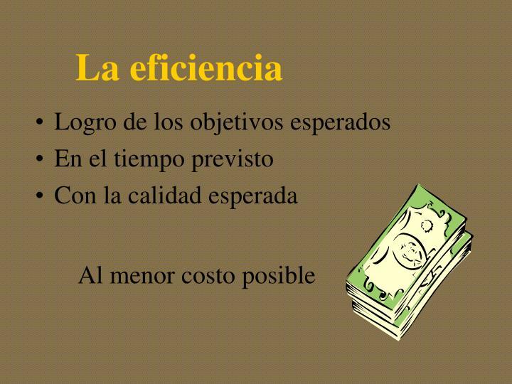 La eficiencia