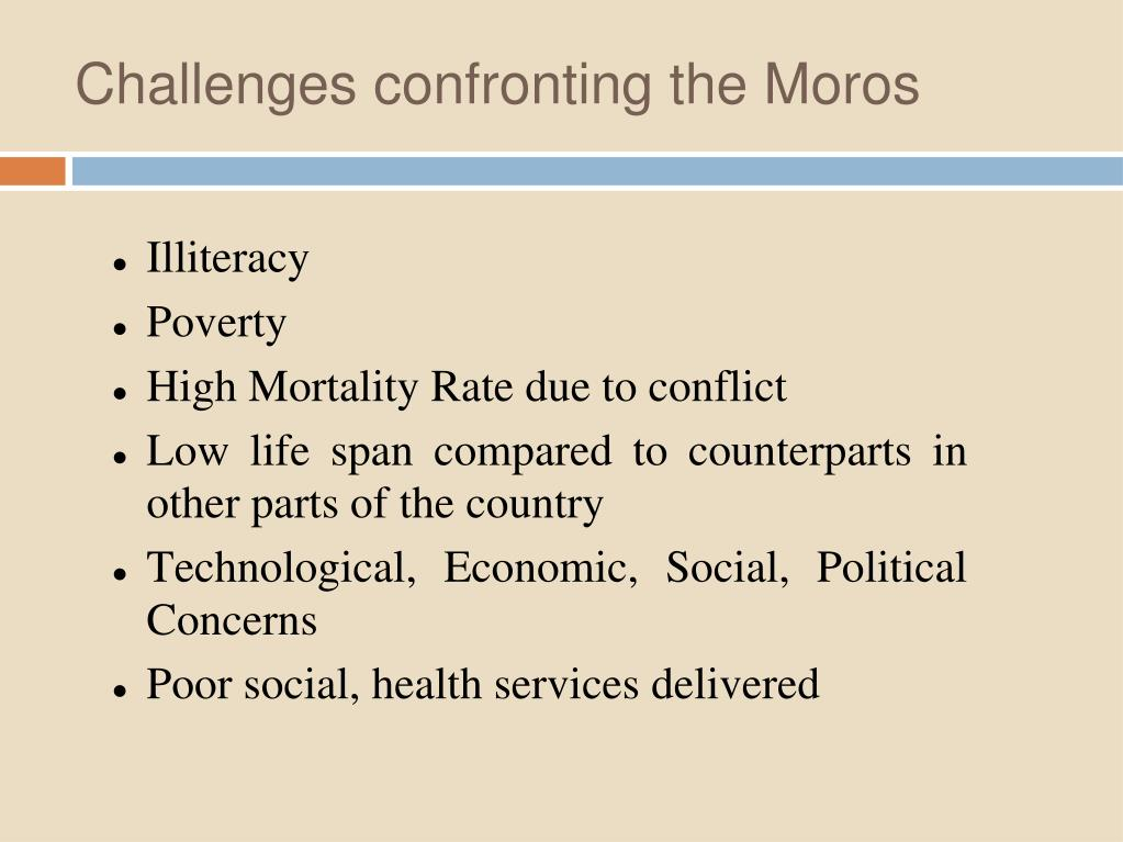 Challenges confronting the Moros