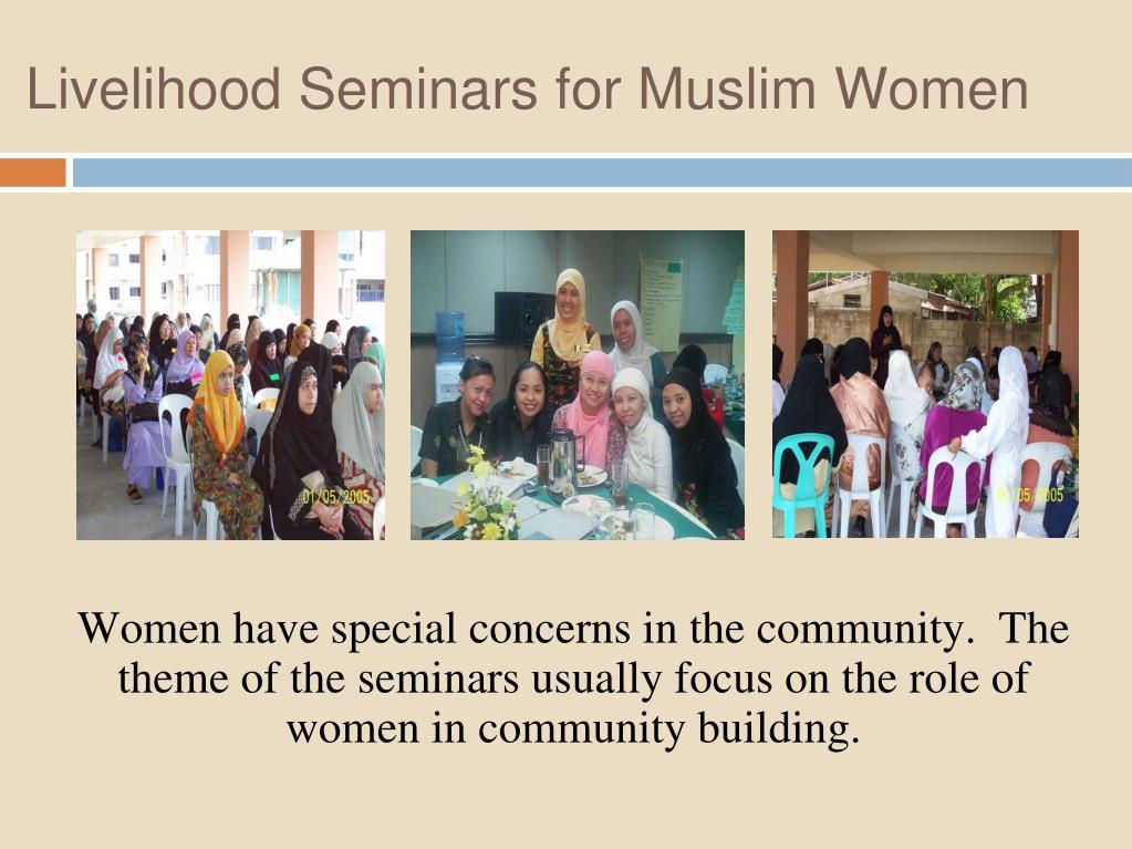 Livelihood Seminars for Muslim Women