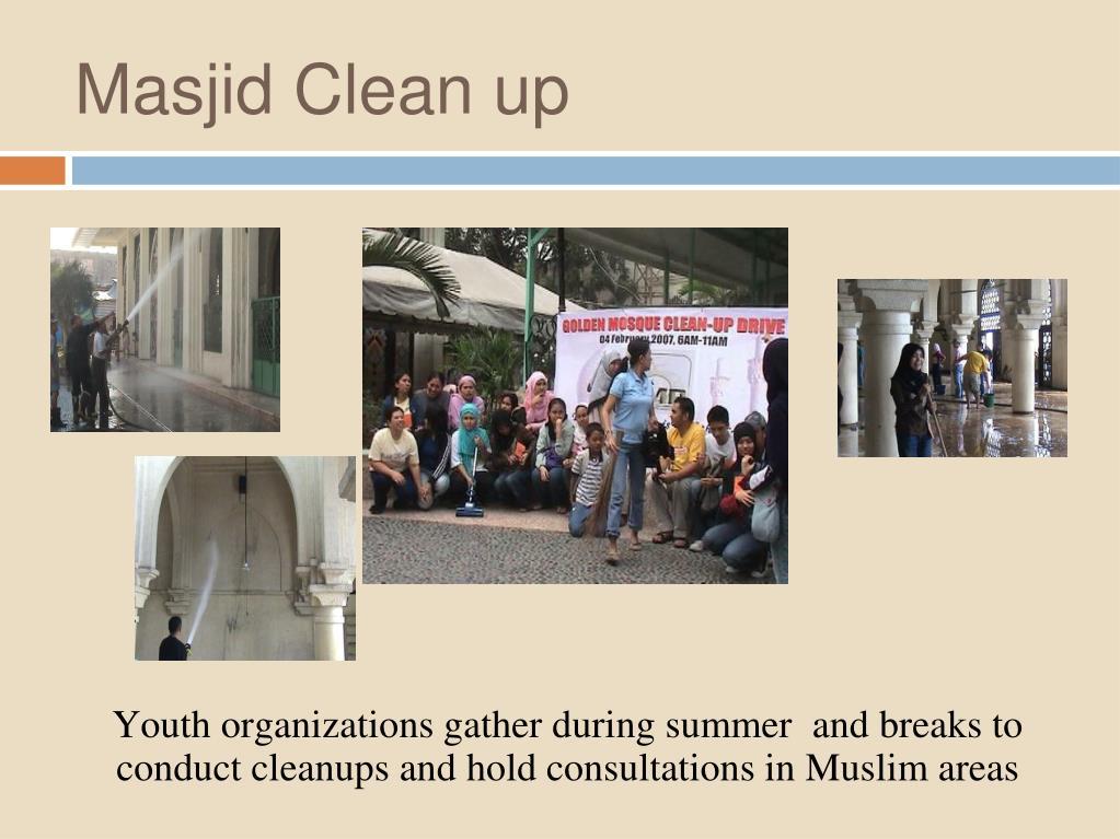 Masjid Clean up