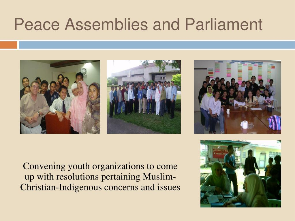 Peace Assemblies and Parliament