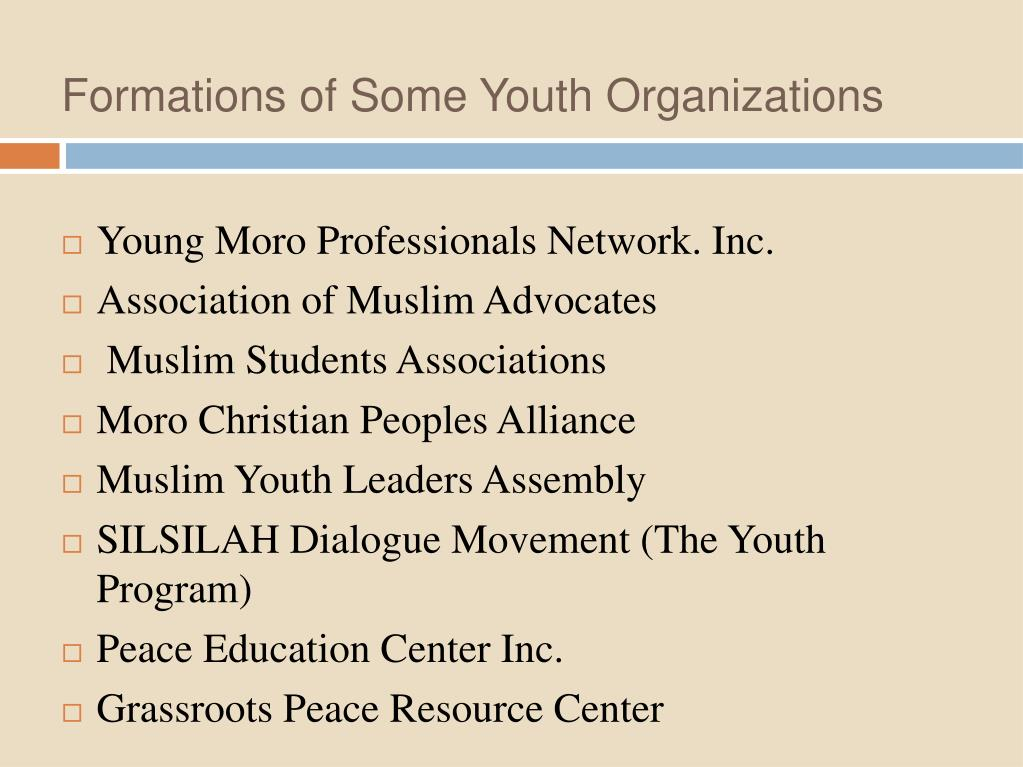Formations of Some Youth Organizations