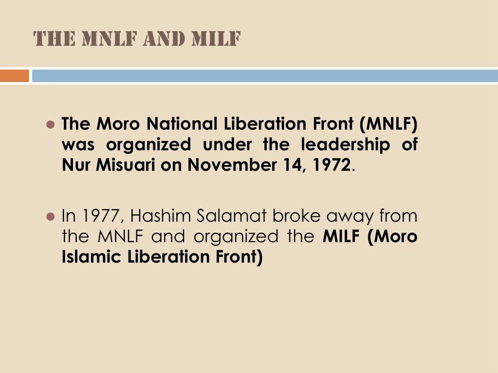 The MNLF and MILF