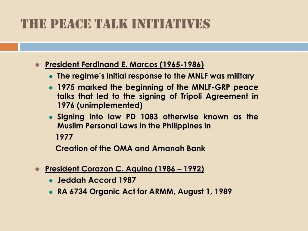 The Peace Talk Initiatives