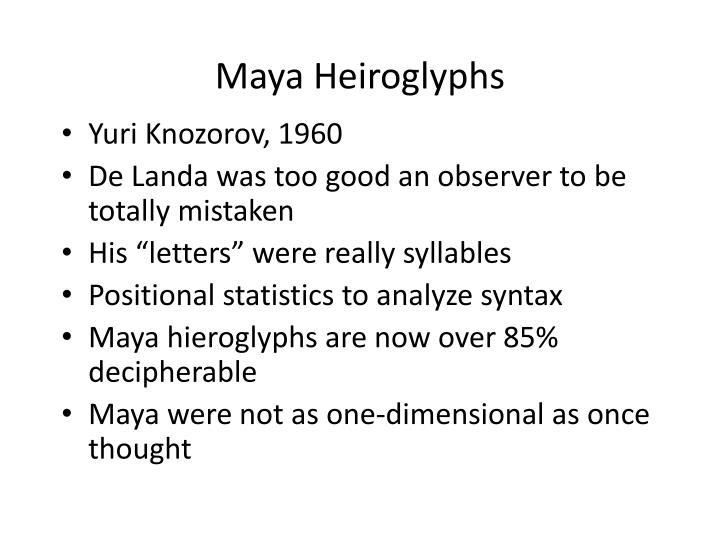Maya Heiroglyphs