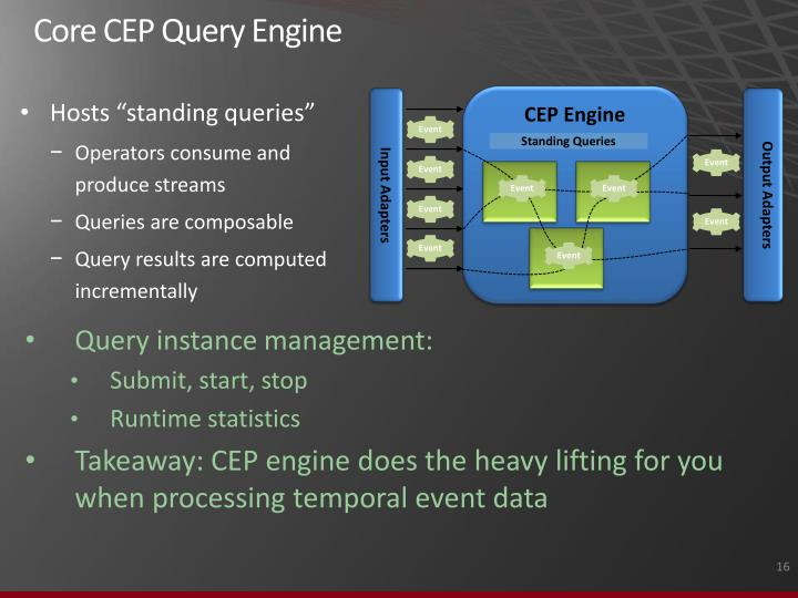 Core CEP Query Engine