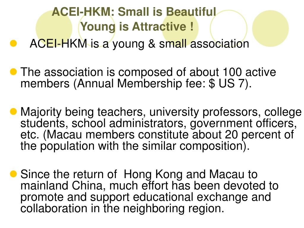 ACEI-HKM: Small is Beautiful