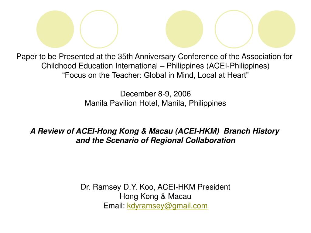 Paper to be Presented at the 35th Anniversary Conference of the Association for