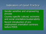 indicators of good practice14