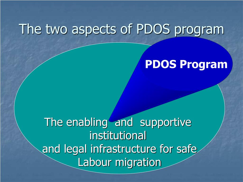 The two aspects of PDOS program