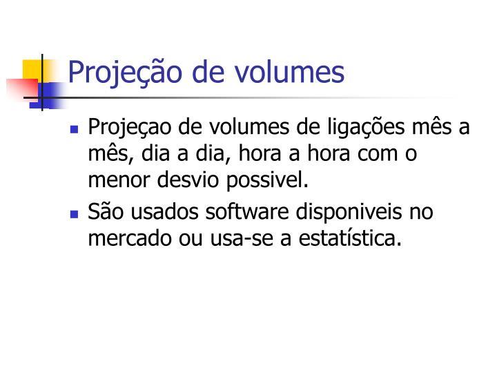 Projeção de volumes