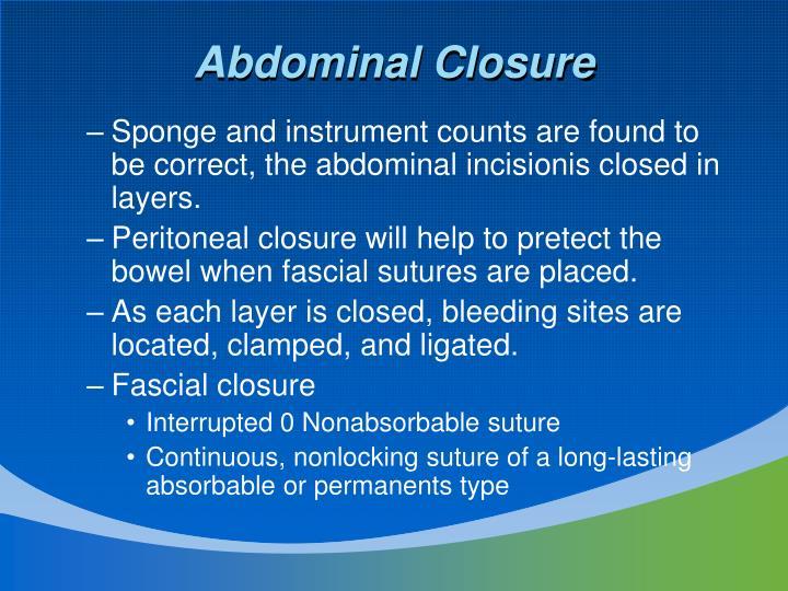Abdominal Closure
