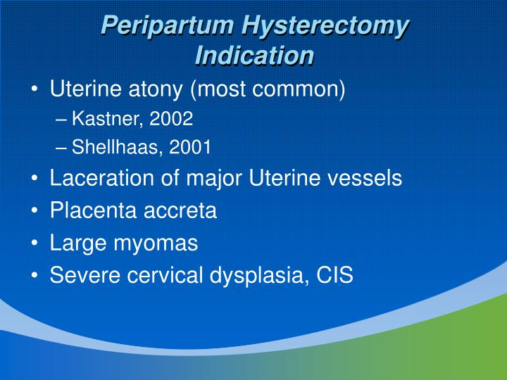 Peripartum Hysterectomy